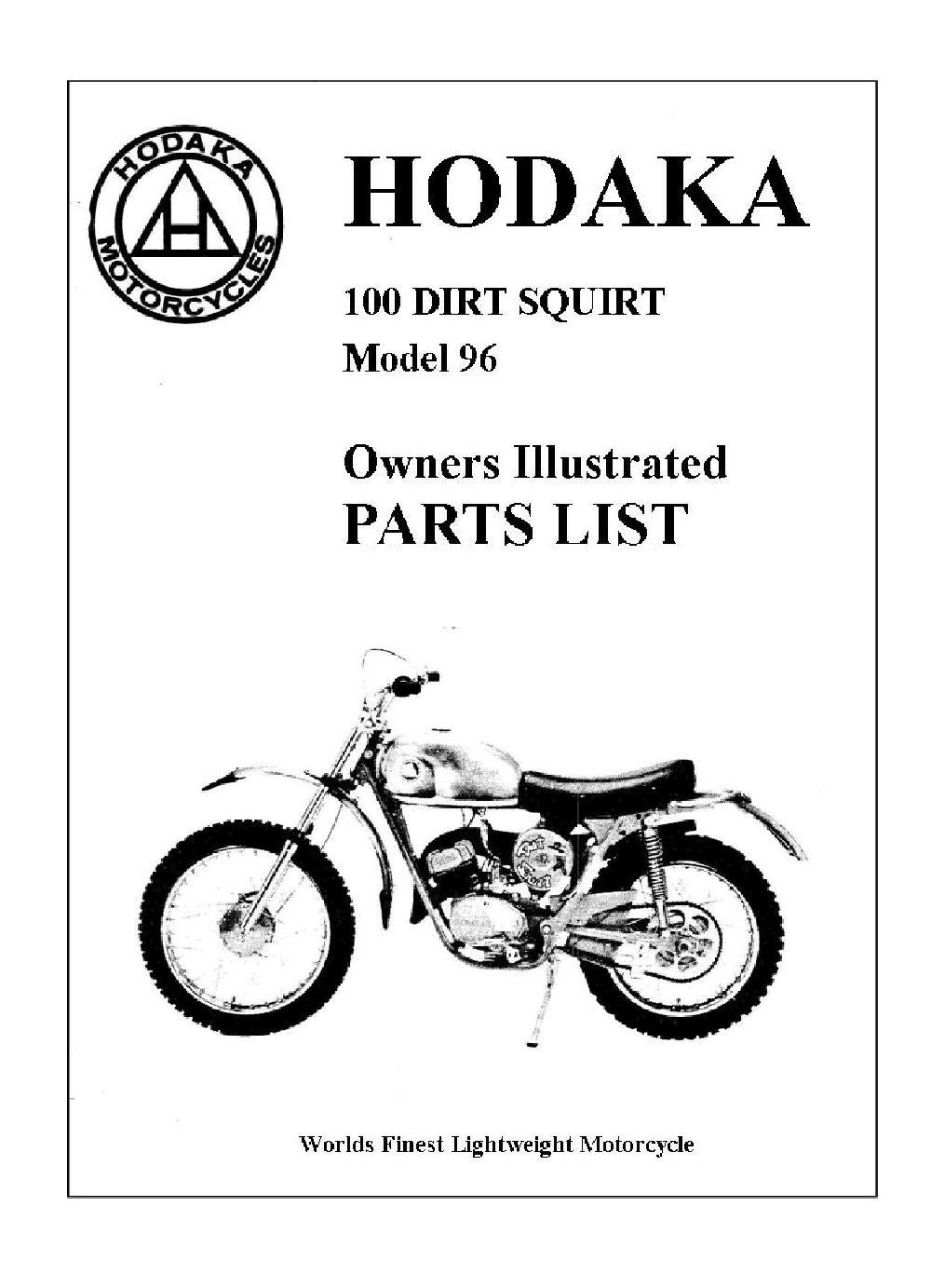 model 96 dirt squirt parts schematics