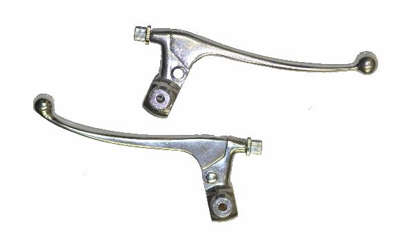 Ds 90 Brake Lever : Original stock brake clutch lever assembly model